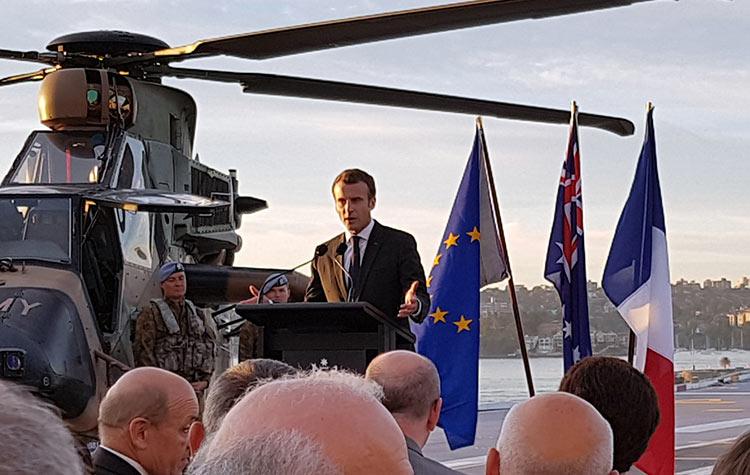 Visite du Président de la République française Mr Emmanuel Macron en Australie 2018